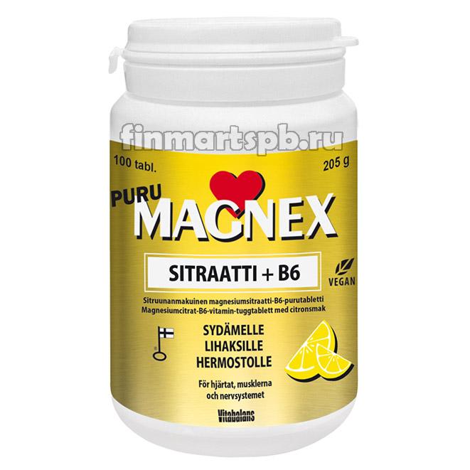 Цитрат магния MAGNEX sitraatti + b6 Puru (Цитрат магния + Витамин Б6)
