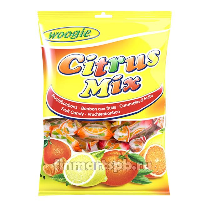 Конфеты леденцы Woogie Citrus Mix (лимон, апельсин, мандарин) , 250 гр.