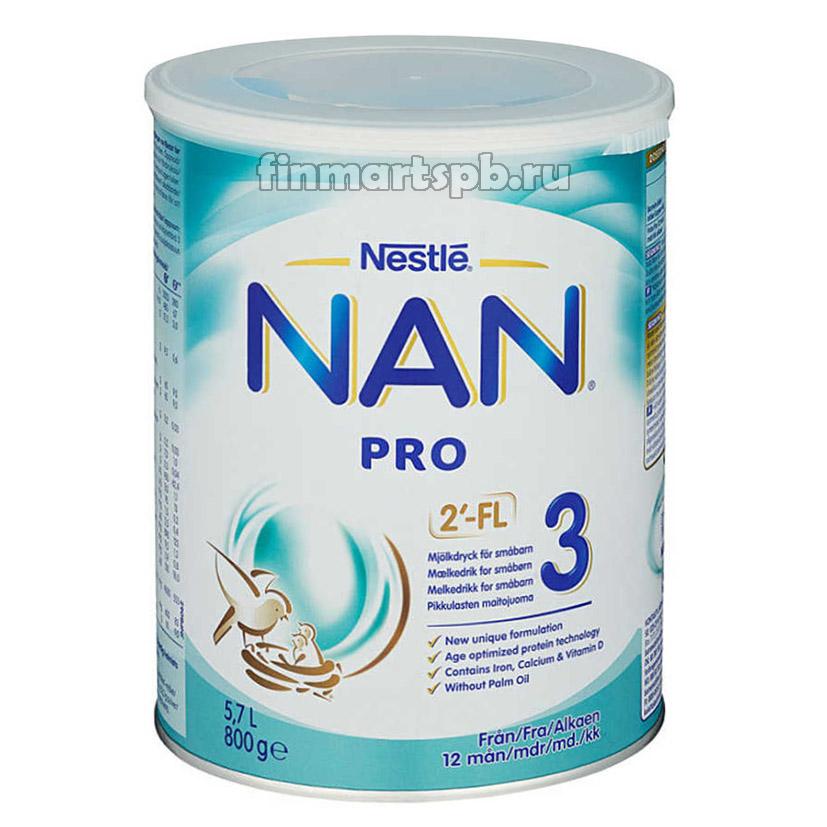 Сухая молочная смесь Nestle NAN 3 Pro (с 10 месяцев)