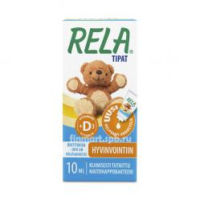 Капли Rela Drops +D3 (Рела Дропс +Д3)- 10 мл.