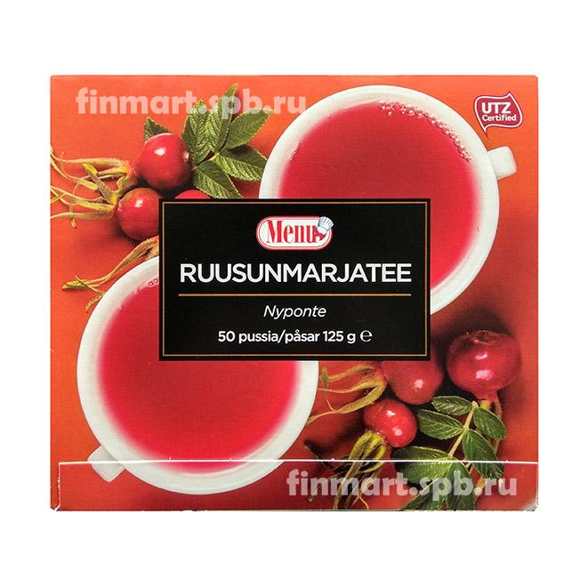 Чай с шиповником Menu ruusun marjatee - 50 пак.