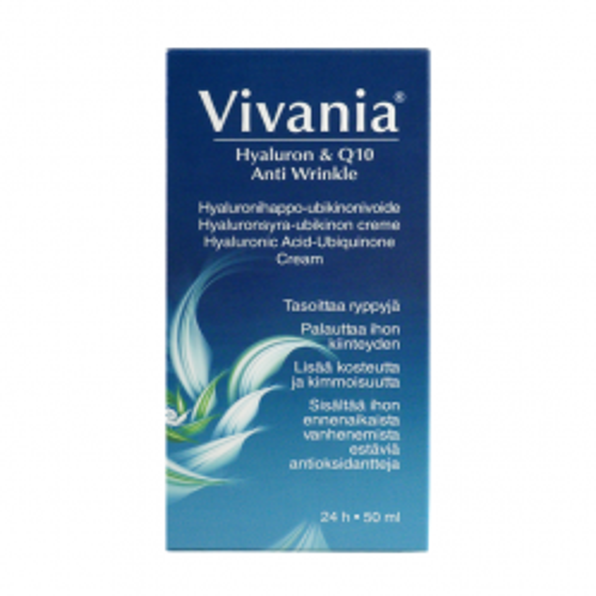 Крем против морщин Vivania Hyaluron & Q10 Anti Wrinkle - 50 мл.