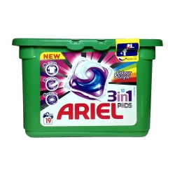 Капсулы для стирки Ariel Pods Color&Style 3in1 - 19 шт.