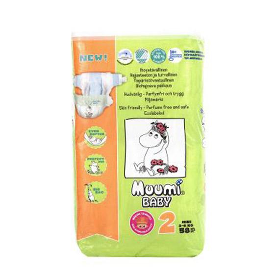 Подгузники Muumi Baby №2 (3-6 кг) - 58 шт.