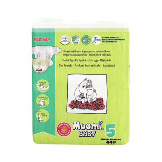 Подгузники Muumi Baby Maxi+ №5 (10-16 кг) - 44 шт.