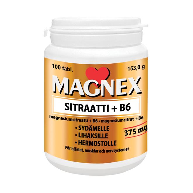 MAGNEX sitraatti + b6 - 100 таб.