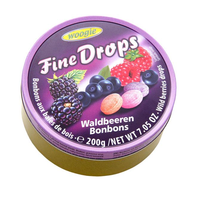 Леденцы Woogie Fine Drops (лесные ягоды) - 200 гр.