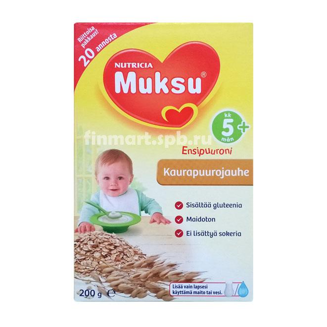 Каша Nutricia Muksu Kaurapuurojauhe (овсяная) - 200 гр.