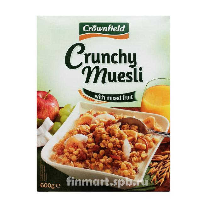 Мюсли с смесью фруктов Crownfield Crunchy Muesli - 600 гр.