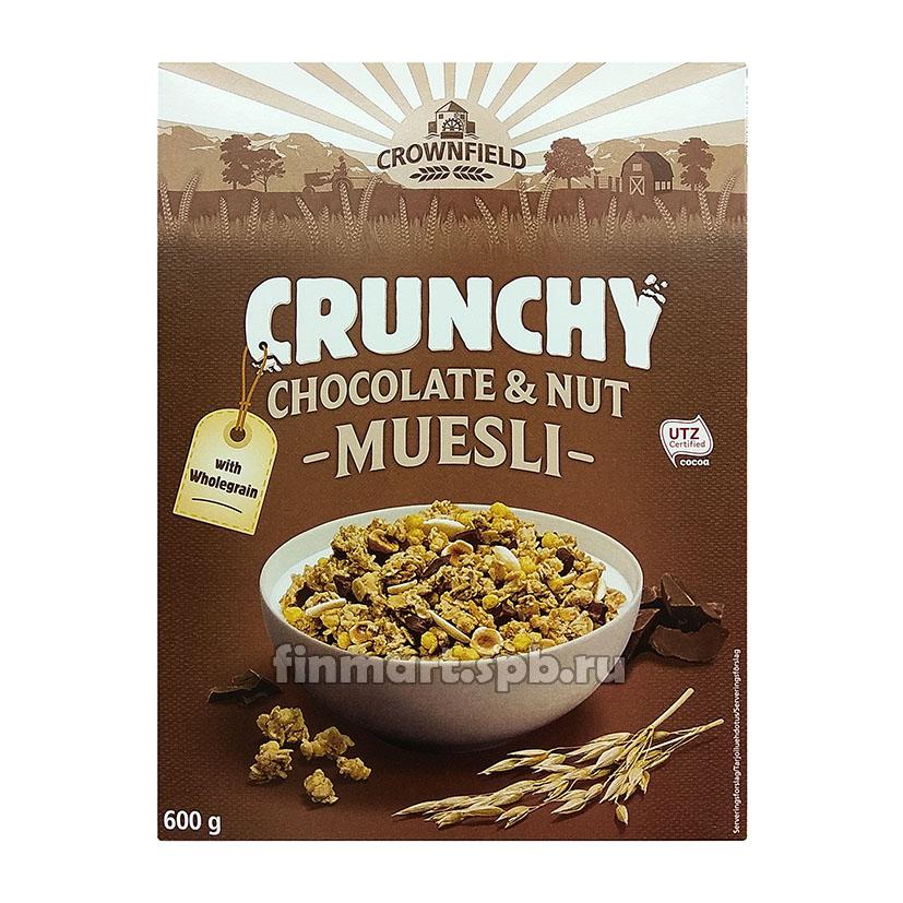 Мюсли с шоколадом и орехами Crownfield Crunchy chocolate&net muesli - 600 гр.