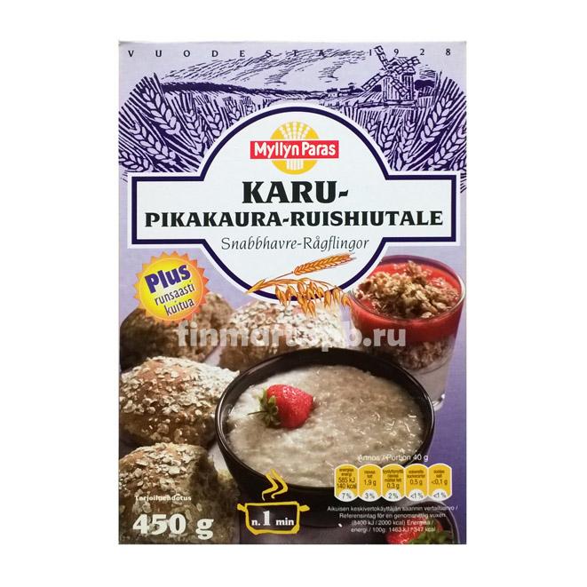 Каша Myllyn Paras KARU Pikakaura-Ruishiutale (овсяная с ржаными хлопьями)  - 450 гр.