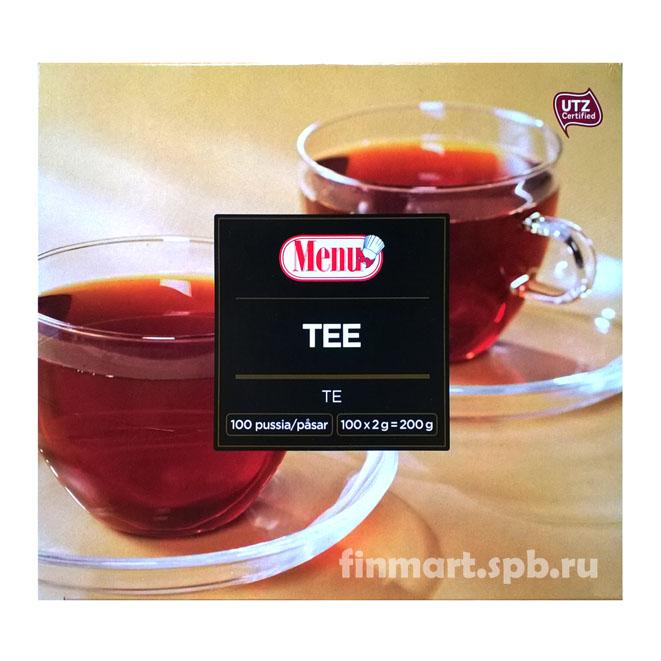 Чёрный чай с бергамотом Menu - 100 пак.