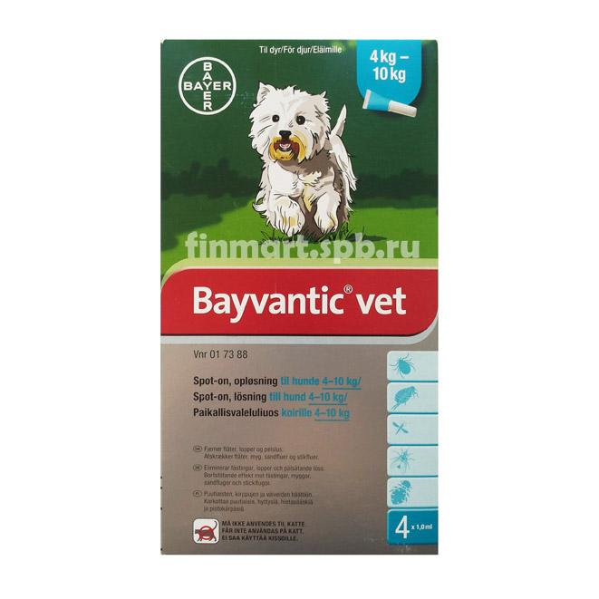 Средство против блох Bayvantic vet - для собак 4-10 кг.
