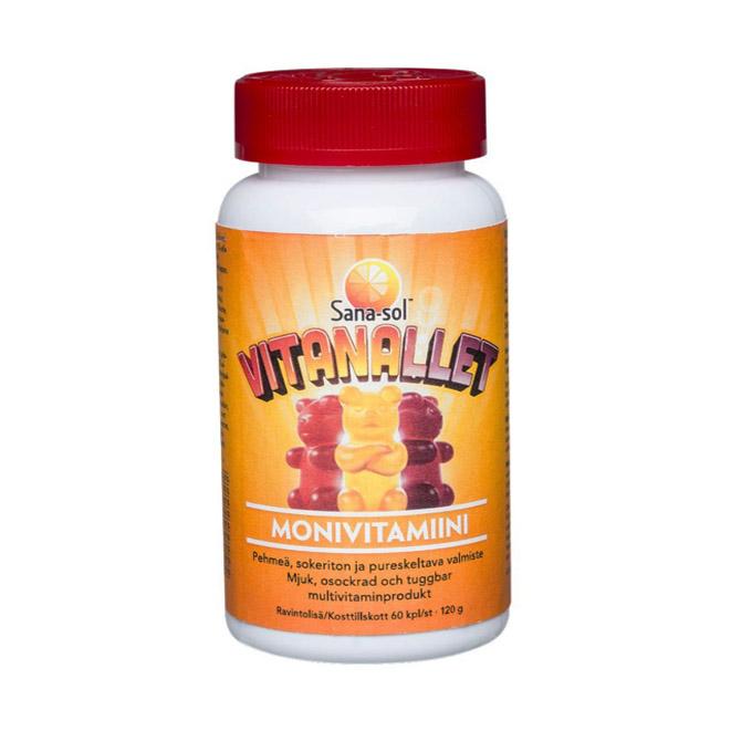 Витамины Sana-sol Vitanallet (жевательные мишки)  - 60 шт.