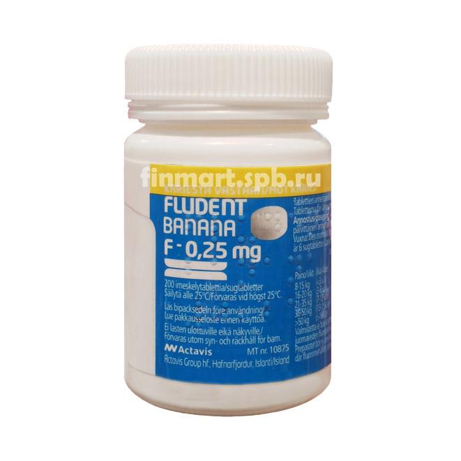 Фтор Fludent Banana 0,25 мг - 540 шт.