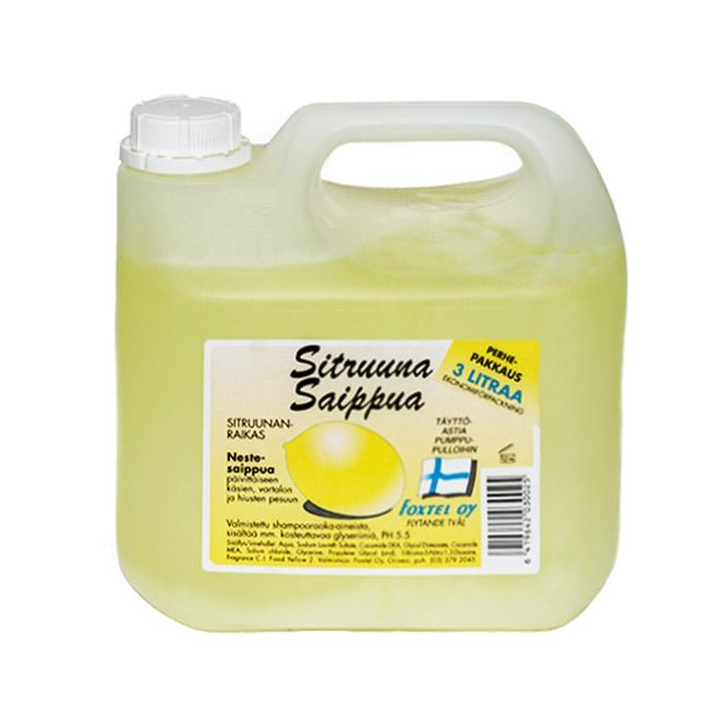 Жидкое мыло Foxtel Sitruuna (аромат лимона) - 3 л.