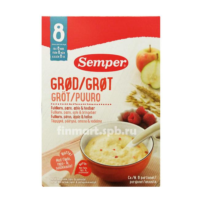 Каша Овсяная Semper (груша, яблоко, малина) - 250 гр.
