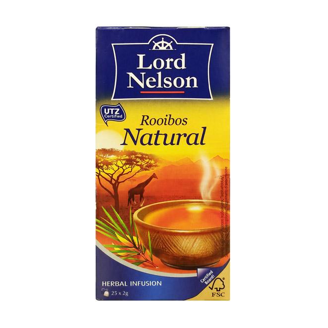 Чёрный чай Lord Nelson Rooibos Natural (Ройбуш) - 25 пак.
