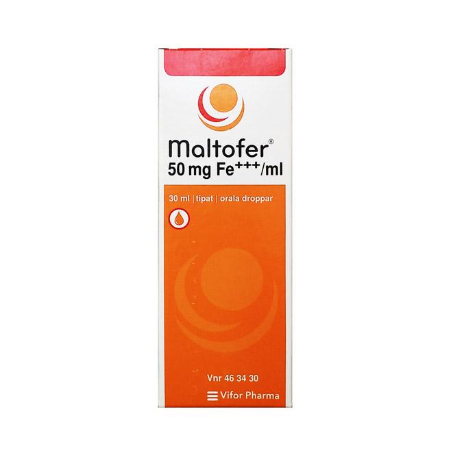 Железосодержащий препарат Maltofer 50mg FE (Малтофер) - 30 мл.