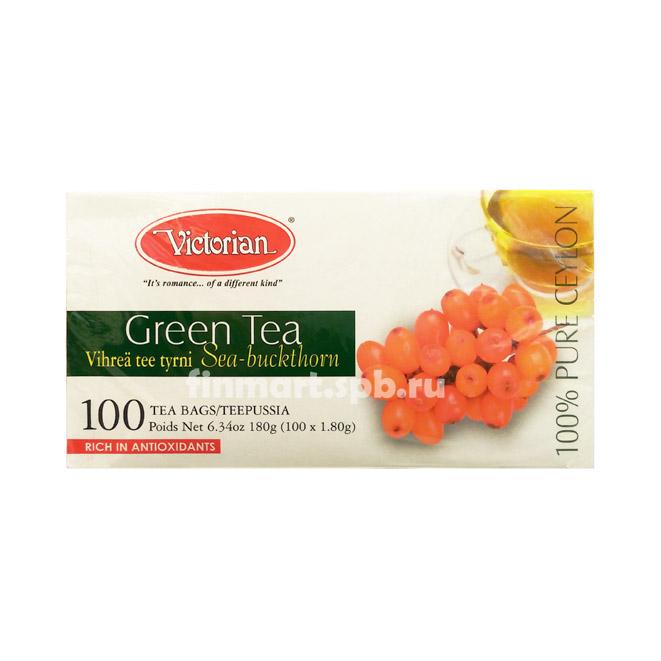 Зелёный чай Victorian (с облепихой) - 100 пак.