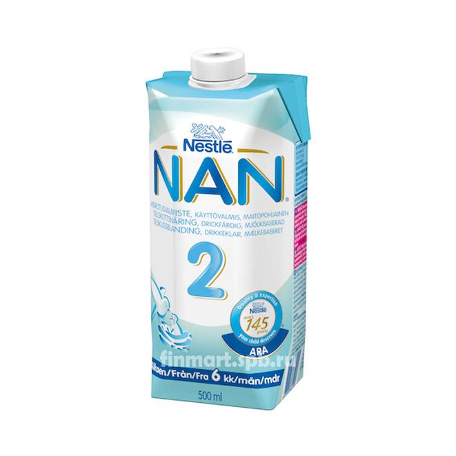 Nestle NAN 2 (НАН 2 готовая смесь) - 500 мл.