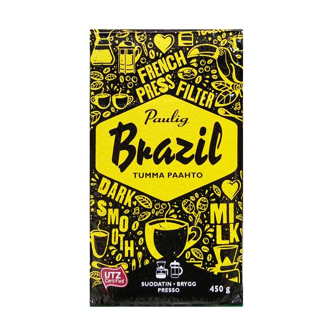 Кофе молотый Paulig Brazil Tumma Pahto - 450 гр.