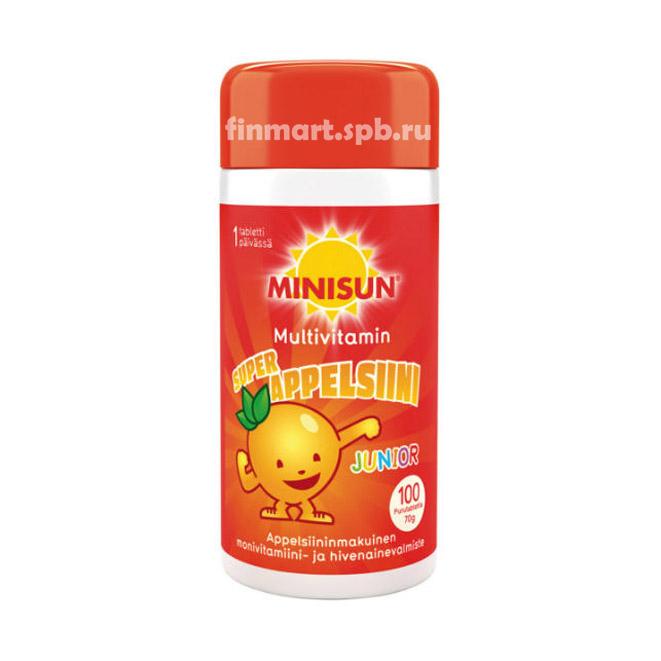 Поливитамины Minisun Super Appelsiini - 100 шт.