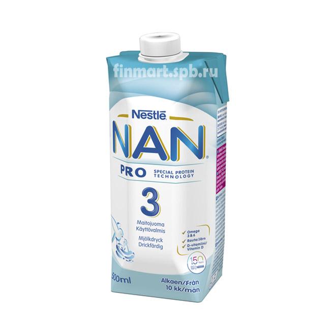 Детское питание Nestle NAN 3 Junior (НАН 3 готовая смесь) - 500 мл.