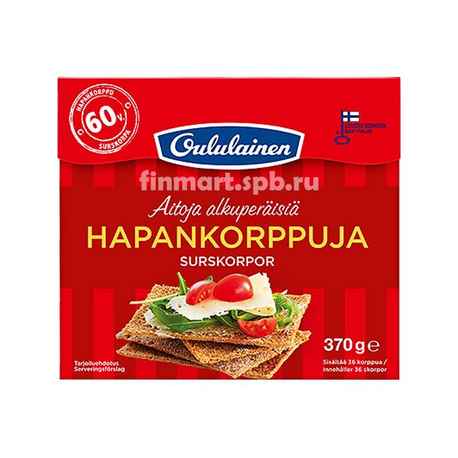 Хлебцы ржаные Oululainen Hapankorppuja - 370 гр.