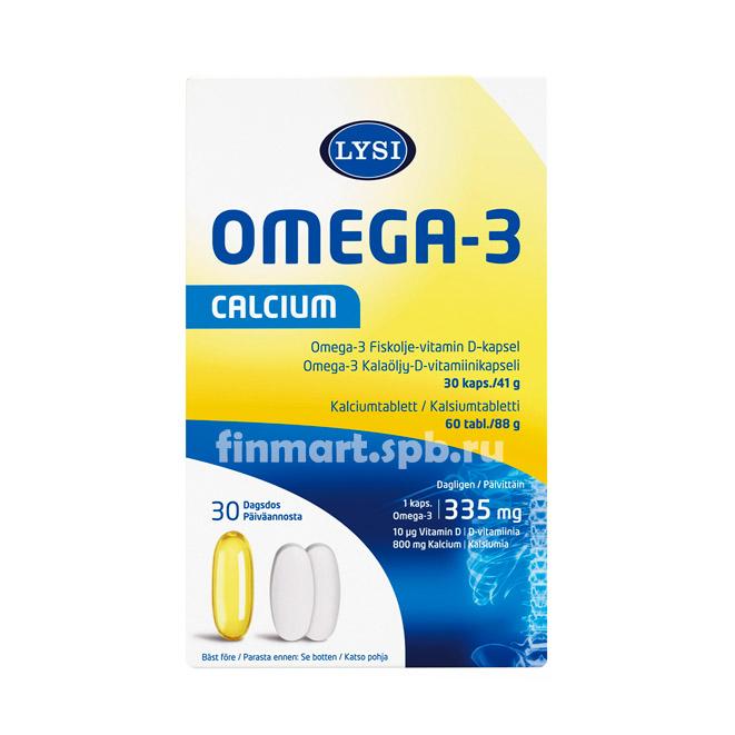 Lysi Omega-3 Calcium - 30 + 60 шт.