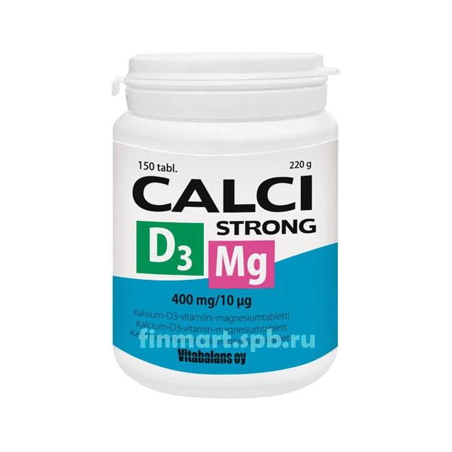 Calci Strong + Magnesium + D3 (Кальций, Магний, Витамин D3) - 150 таб.