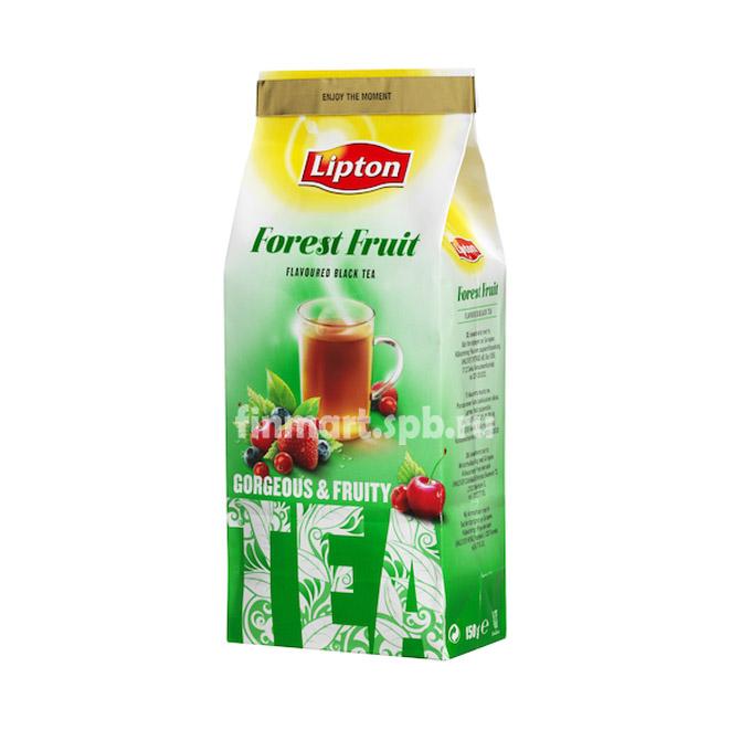 Чёрный чай Lipton Forest Fruit (лесные ягоды) - 150 гр.