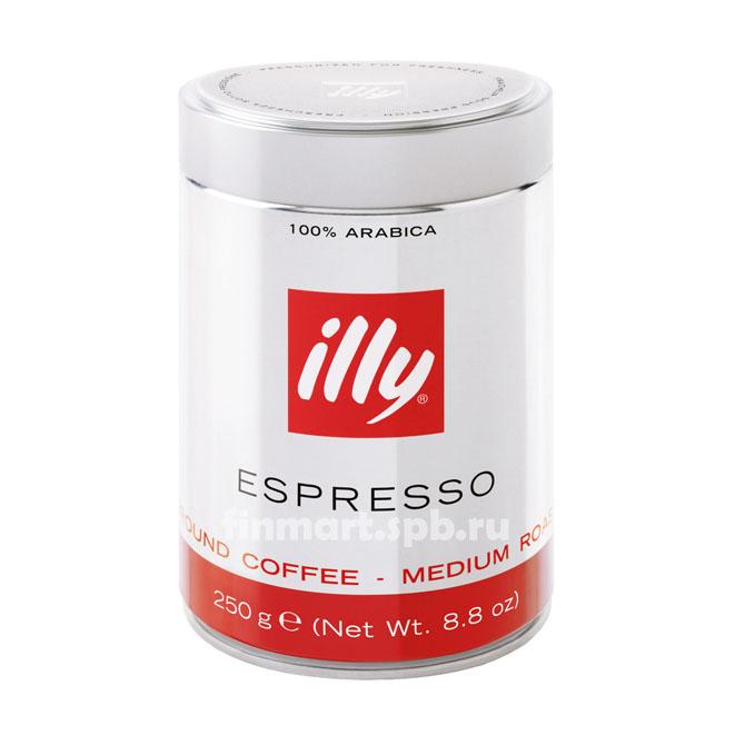Кофе молотый Illy espresso medium roast - 250 г.